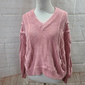 Madewell Pale pink knitted sweater long sleeve